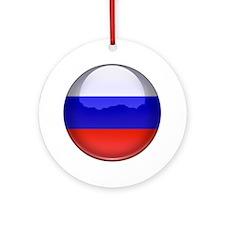 Russia Flag Jewel Ornament (Round)