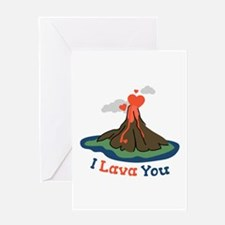 I Lava You Greeting Cards