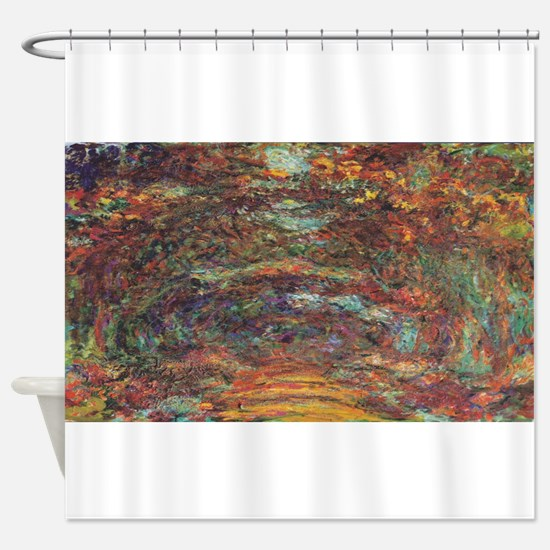 Claude Monet's The Rose Walk, Giver Shower Curtain