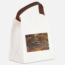 Claude Monet's The Rose Walk, Giv Canvas Lunch Bag