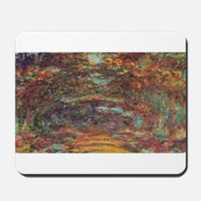 Claude Monet's The Rose Walk, Giverny, 1 Mousepad