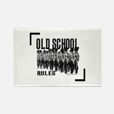 Old School Rules Rectangle Magnet