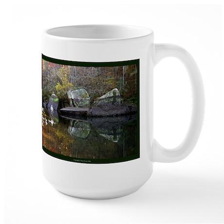 Fishing The Little Red Large Mug