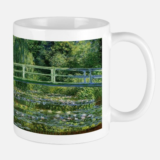 Claude Monet's Water Lilies and Japanese Brid Mugs