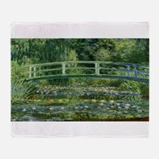 Claude Monet's Water Lilies and Japa Throw Blanket