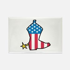 American Flag Boot Rectangle Magnet