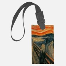 Cute Edvard munch Luggage Tag