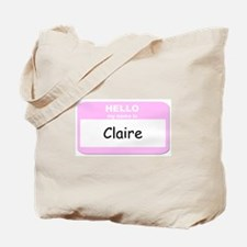 My Name is Claire Tote Bag