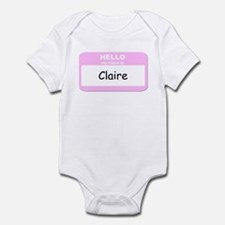 My Name is Claire Infant Bodysuit