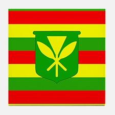 Kanaka Maoli Flag Tile Coaster