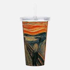 Edvard Munch's The Scr Acrylic Double-wall Tumbler