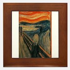 Edvard Munch's The Scream Framed Tile