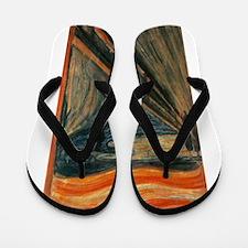Edvard Munch's The Scream Flip Flops
