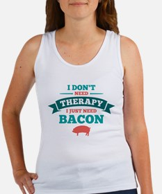 No Therapy Bacon Women's Tank Top