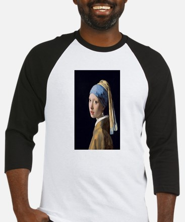 Johannes Vermeer's Girl with a Pea Baseball Jersey