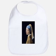 Johannes Vermeer's Girl with a Pearl Earring Bib