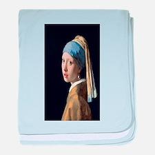 Johannes Vermeer's Girl with a Pearl baby blanket