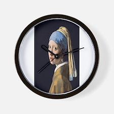 Johannes Vermeer's Girl with a Pearl Ea Wall Clock