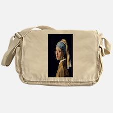 Johannes Vermeer's Girl with a Pearl Messenger Bag