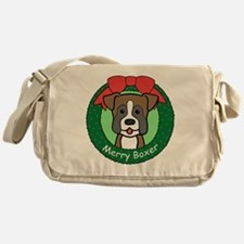 Unique Boxer dog art Messenger Bag