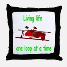 One loop at a time... Throw Pillow