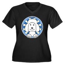 Cool Standard poodle cartoon Women's Plus Size V-Neck Dark T-Shirt