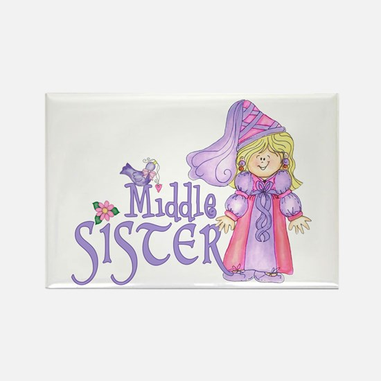 Princess Middle Sister Rectangle Magnet