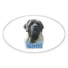 Mastiff(brindle)Name Oval Decal