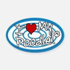hypno_poodle.png Oval Car Magnet