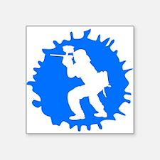 Blue Paintball Player Splatter Sticker