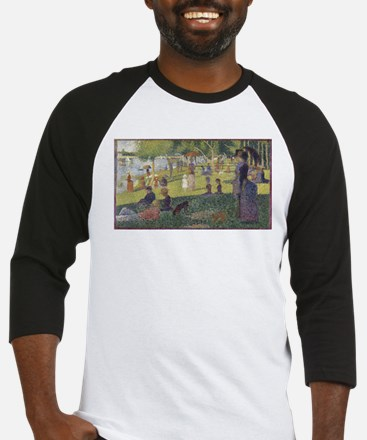 Georges Seurat's A Sunday Afternoo Baseball Jersey