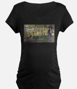 Georges Seurat's A Sunday Aftern Maternity T-Shirt