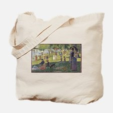 Georges Seurat's A Sunday Afternoon on th Tote Bag