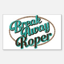 Break-away Roper Decal