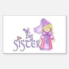 Princess Big Sister Rectangle Decal