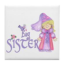 Princess Big Sister Tile Coaster