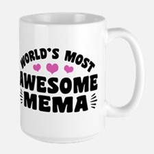 World's Most Awesome Mema Large Mug