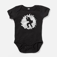 Paintball Player Splatter Baby Bodysuit