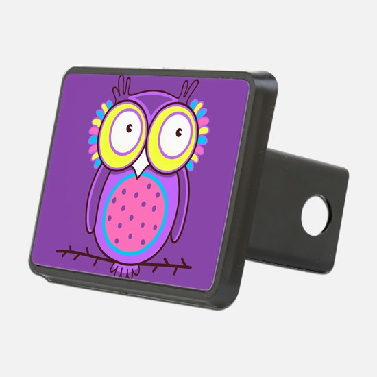 Colorful Owl Hitch Cover