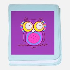 Colorful Owl baby blanket