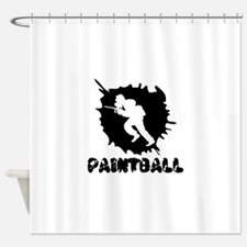 Paintball Splatter Shower Curtain