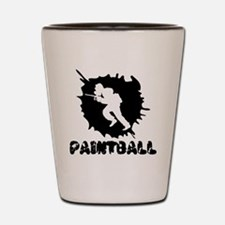 Paintball Splatter Shot Glass