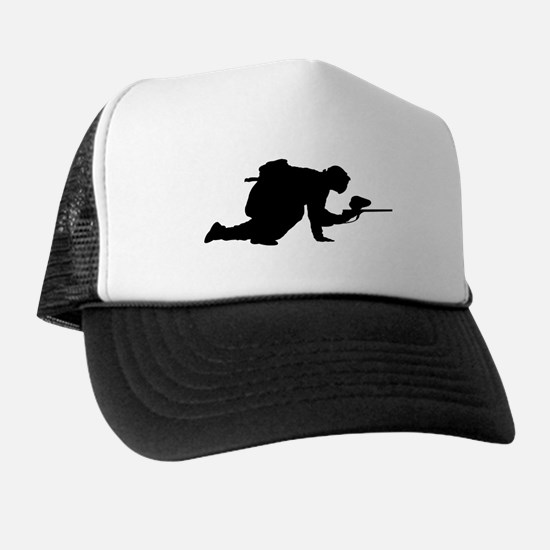Paintball Player Silhouette Trucker Hat
