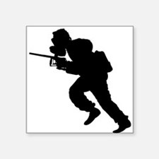 Paintball Player Silhouette Sticker