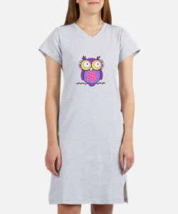 Colorful Owl Women's Nightshirt