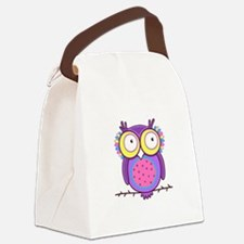 Colorful Owl Canvas Lunch Bag