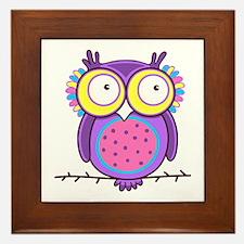 Colorful Owl Framed Tile