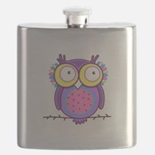 Colorful Owl Flask