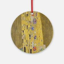 Gustav Klimt's The Kiss Round Ornament