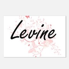Levine surname artistic d Postcards (Package of 8)